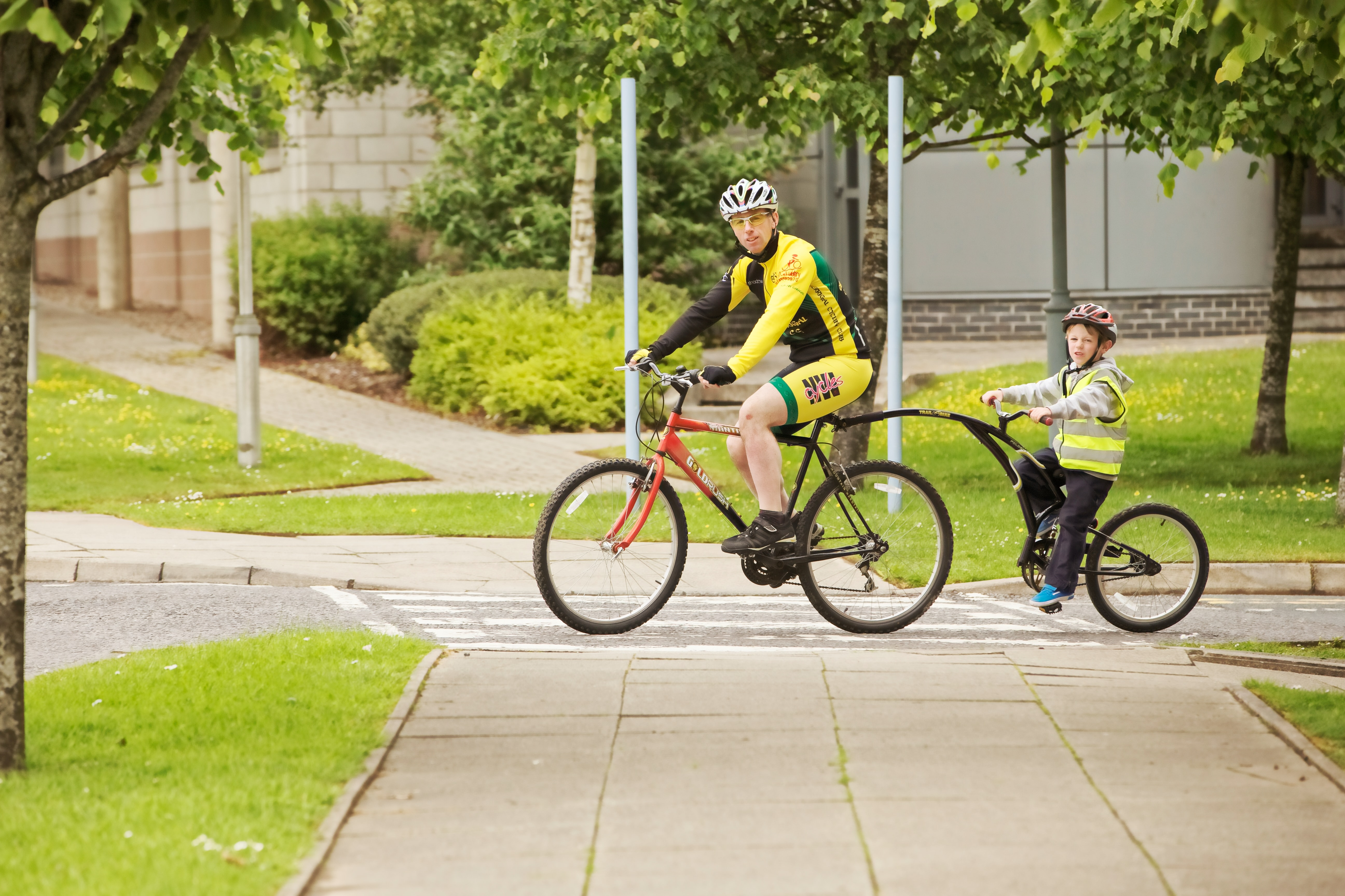 Churchich Recreation Turn Outdoor Fitness Into Family Time Dad and Son Bike Ride